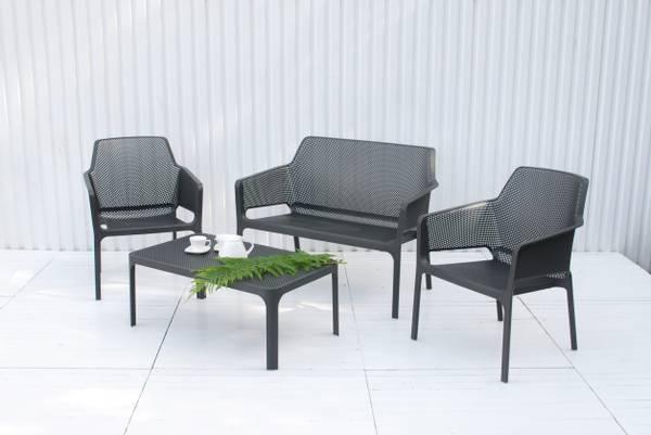 Bilde av Nardi Net 2+1+1 sett +bord - antrasittgrå