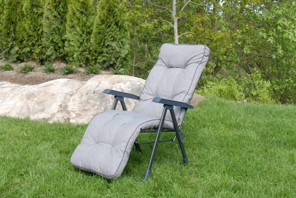 Bilde av Royal Baden Baden stol m/pute - design Granittgrå