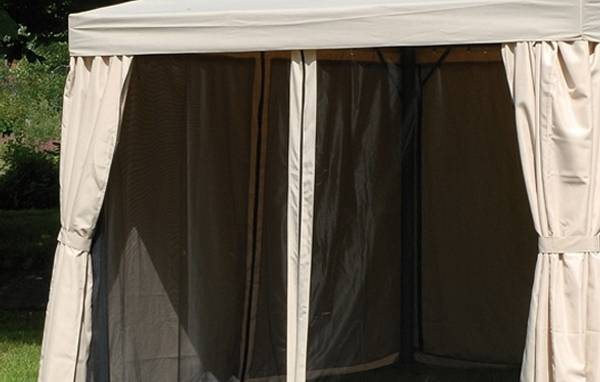 Bilde av Support myggnett sett til 3x3 m paviljong - beige